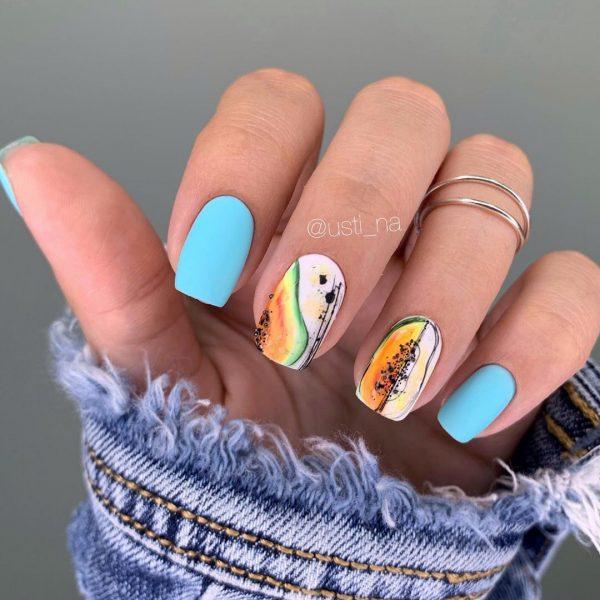 Модные идеи маникюра с паутиной 2021. Фото трендового дизайна ногтей
