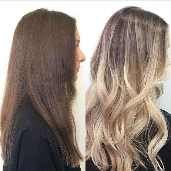 Окрашивание балаяж: фото и варианты для разных типов волос