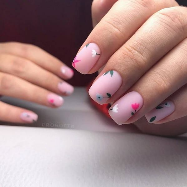 Актуальный маникюр на квадратные ногти 2021: более 270 фото новинок модного и красивого дизайна