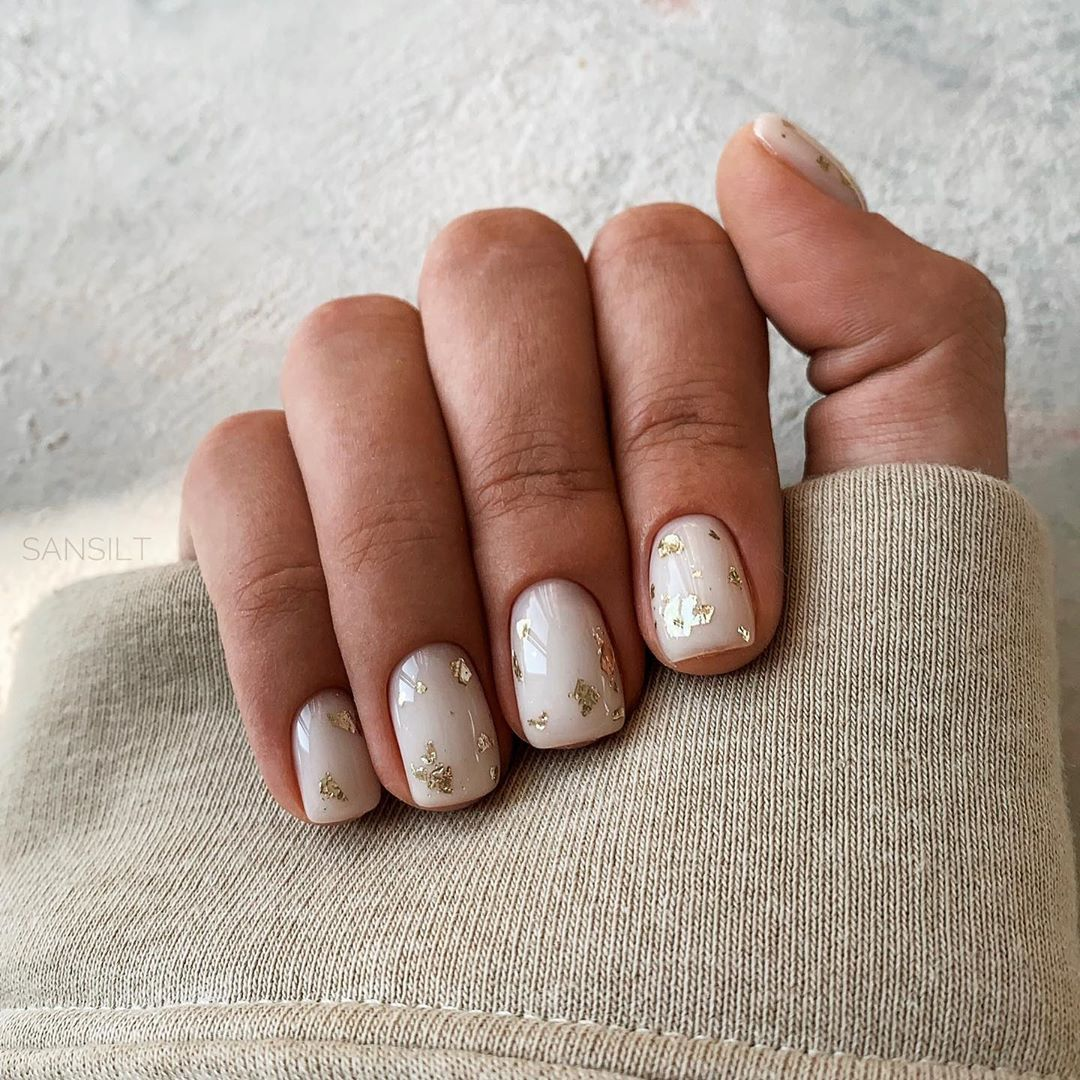 Маникюр на очень короткие ногти: фото дизайн 2021 гель лак