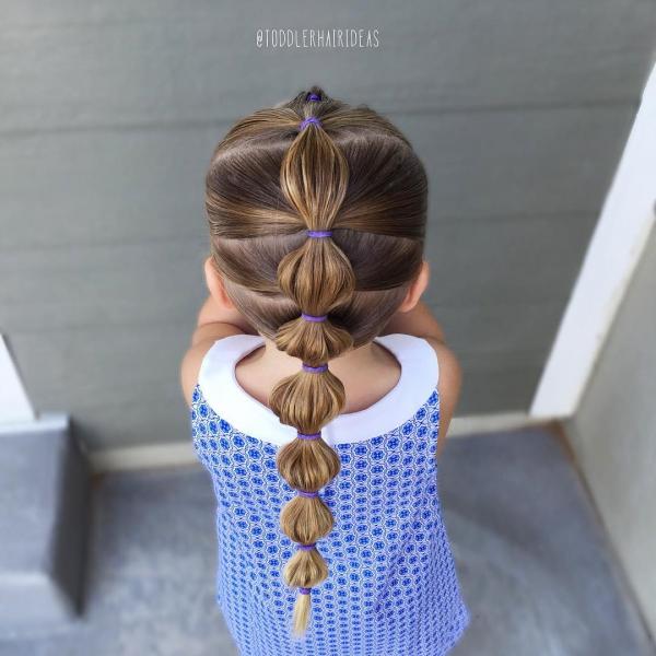 100 причесок для девочек в садик на каждый день