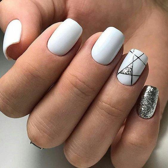 Самый красивый и модный белый маникюр 2021. Более 250 фото трендового дизайна