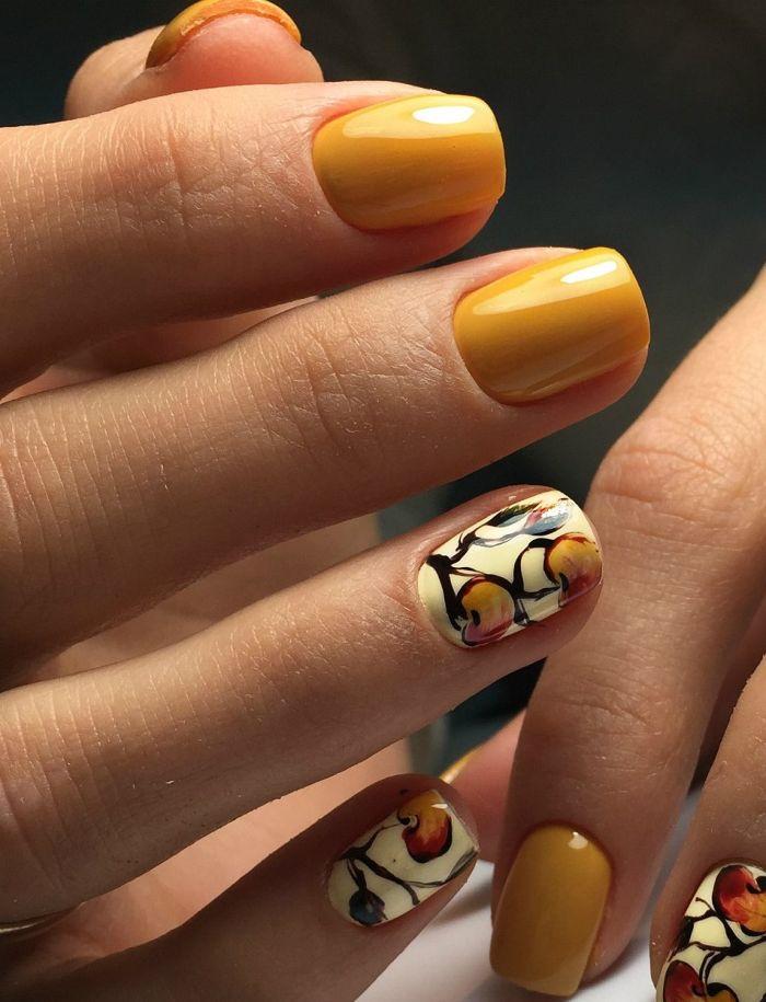 Маникюр осень 2021. Более 300 фото новинок модного трендового дизайна осеннего маникюра