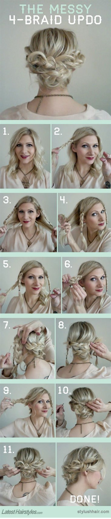 15 легких причесок на каждый день с пошаговыми фото-инструкциями
