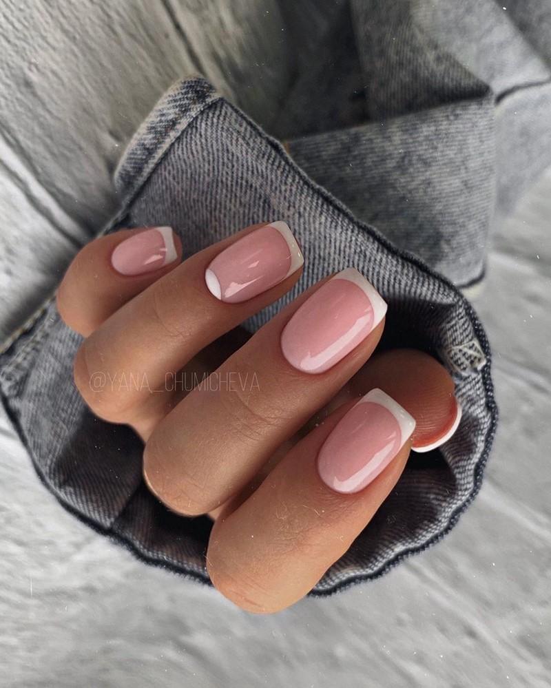 Маникюр на квадратную форму ногтей 2021. Больше 300 фото новинок красивого и модного маникюра